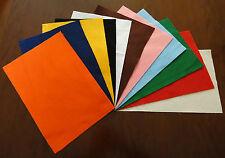 10 FOGLI PANNOLENCI feltro misura 30x20 cm spessore 1mm colori a scelta