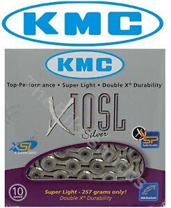 KMC X10SL Silver 10 Speed Bike Chain fit road mountain Shimano Campagnolo & SRAM