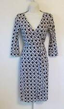 Diane von Furstenberg New Julian two Caning Mocha brown 12 wrap dress basket DVF
