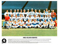 1980 ATLANTA BRAVES TEAM  8X10 PHOTO  GEORGIA  BASEBALL