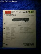 Sony Service Manual ST S215 / S315 Tuner  (#0417)