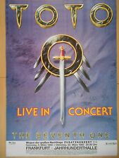 TOTO  1988  FRANKFURT  ++  orig. Concert Poster - Konzert Plakat  A1  NEU