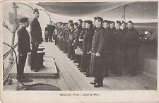 POSTCARD  SHIPS Channel Fleet  Liberty Men