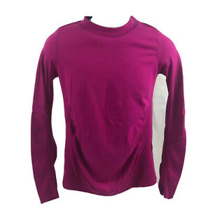 ATHLETA Women's Foresthill Ascent Long Sleeve Purple Top Size Medium Thumb Hole
