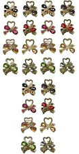 3 Sets of 8 Mini Jaw Clips 24 Mini Hair Clips Pale Gold Tone U1565-8-3