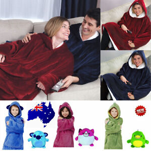 kid Hoodie Blanket Soft Oversized Plush Blanket Hoodie Sweatshirt Fleece Blanket