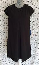 Simply Vera Wang Womens Sz L NWT  Short Sleeve Black Dress Polyester MSRP $98