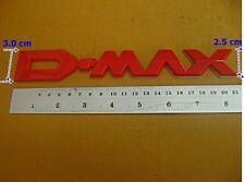 ISUZU D-MAX 2012-2015 X-SERIES V-CROSS REAR RED LOGO EMBLEM (si148)