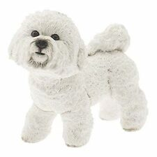 Leonardo Collection Bichon Frise Ornament Dog Stone White