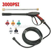 3000PSI Car Power Washer Spray Gun High Pressure Wand Lance Nozzle Tips Hose