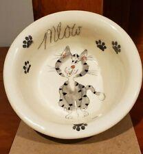 Cat Bowl, Whiskerkins, Black/ Grey Cat