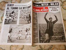 CALCIO RIVISTA SUPERCALCIO  ANNO I  NR 2 POSTER CAGLIARI  23-9-1969
