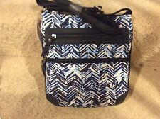 6dc64ea730 Jaclyn Smith Women s Crossbody Purse Small Bag - Chevron Stripes Blue and  Black
