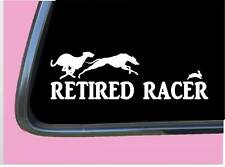 "Greyhound Retired Tp 966 vinyl 8"" Decal Sticker racer muzzle leash rescue"