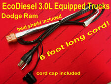 Dodge Ram 3.0L EcoDiesel Engine Heater Cord 2015-2018 Eco Diesel Dodge Ram 1500