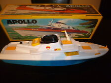 UNIQUE 70s BATTERY OPERATED SPEED BOAT - APOLLO -  BY RANETTA SPAIN MIB