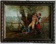 peinture huile nu masculin homme toile canvas gay naked nackt man