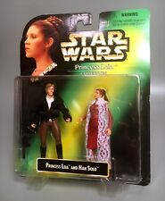 1997 Star Wars PRINCESS LEIA & HAN SOLO Figures EMPIRE STRIKES BACK Kenner MOC