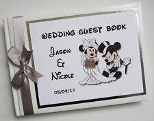 Personnalisé Disney Mickey & Minnie Mariage Livre d'or (Argent) - Toute Couleur