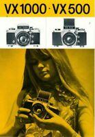 VX 1000 VX 500 - Prospekt Broschüre für Kameras + Zubehör - B20850
