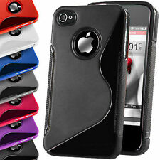 S-Line Silicon TPU Gel Case Cover For iPhone 4 4S 5 5S SE 6 6S 7 8 X Xs Plus