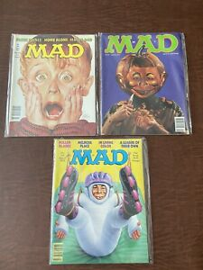 MAD MAGAZINES (3 Lot) June 1991 (#303), Jan (#316), March (#317) 1992 Issues