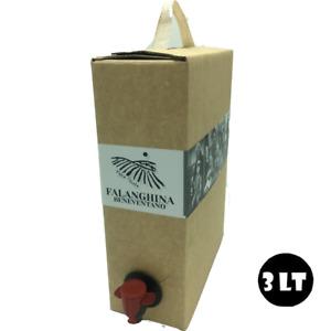 BAG IN BOX 3 LITRI DI VINO FALANGHINA IGP BENEVENTANO 12% VINO BIANCO Sfuso