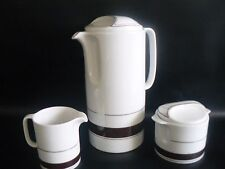 German Bavaria Eschenbach Coffee Pot Milk Jug Sugar Bowl 1970's