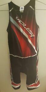 Voler Sync Cycling trisuit/shorts Blk/Grey & Garnet Mens Compression Padded