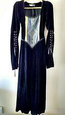 Vintage Subterranea Dress Costume  Size M Steampunk Gothic Black Velvet Lace Up