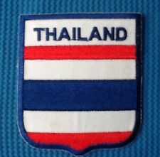 THAILAND THAI SIAM NATIONAL COUNTRY FLAG SOW SEW IRON ON PATCH BADGE SHIELD