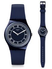 Swatch Blue ben Watch GN254 Analogue Silicone Dark Blue
