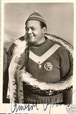 17869/ Autogrammkarte+Signatur Anderl Ostler Bob-Weltmeister Alpe d'Huez 1951Aut