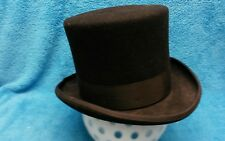 JHats Mad Hatter style Top Hat Cap Black Sz Large Formal Victorian RARE