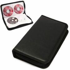80pcs Disk CD/DVD/VCD Leather Wallet Storage Organizer Disc Holder Case Album