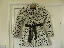 Faux fur Coat Jacket 8 Years Leopard Spots Star Julien McDonald Debenhams NEW