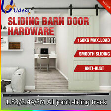 Door Sliding Barn Hardware Track Set Rustic Country Antique Classic Bedroom