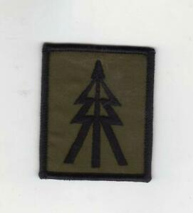 OLIVE GREEN/SUBDUED RECCE TREE BADGE RECONNAISSANCE PLATOON TROOP TRF