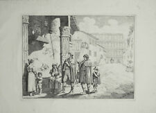 61 x 44 cm Pinelli Incisione Originale Pifferai Colosseo Roma 1836