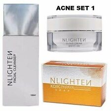 ✅✅SALE! NLIGHTEN ACNE SET 1( Kojic Papaya, Cloud Cream, Facial Cleanser)