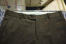 INCOTEX SIZE 36 X 34 DARK GRAY FLAT FRONT WOOL DRESS PANTS