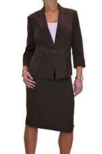 Damen Designer Look Jacke Rock Anzug Business braun Größe 16