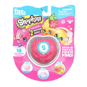 Shopkins Fizz N Surprise 2 Shopkins Inside Color Changing Figures New and Sealed