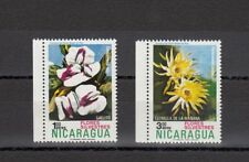 TIMBRE STAMP  2 NICARAGUA Y&T#817-18 PA FLEUR FLOWER NEUF**/MNH-MINT 1974 ~A86