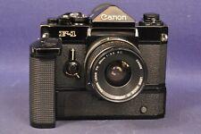 Canon F-1 Alt & Winder F & FD 3,5 / 35mm _ SLR Spiegelreflex & Objektiv F1