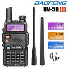 BAOFENG UV-5R III 5W Tri-Band VHF/UHF Walkie Talkie Long Range Two Way Ham Radio