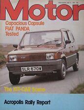 Motor magazine 13/6/1981 featuring Spartan road test, Fiat Panda