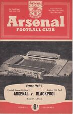 ARSENAL v BLACKPOOL ~ 19 APRIL 1957 ~ FREE POSTAGE (3)