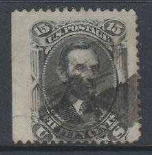 USA - 1866, 15c Grey-Black stamp - Used - SG 73 (Cat. £200)