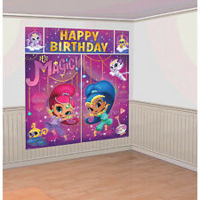 Shimmer and Shine Scene Setter Wall Decorating Kit Birthday Poster Party Supply
